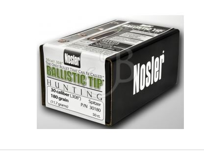 NOSLER BALLISTIC  308 180 GR 50PZ PN30180